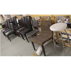 SET OF 12 ASSORTED CHAIRS AND 1 STOOL