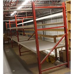 3 SECTIONS OF 8FT PALLET RACKING
