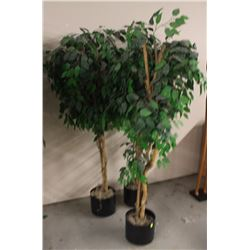 LOT OF 3 ASSORTED FAKE TREES