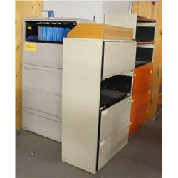 LOT OF 3 LATERAL FILING CABINETS