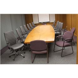 LOT OF 15 ASSORTED BOARD ROOM/RECEPTION CHAIRS
