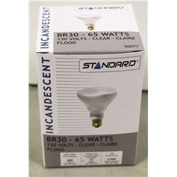 CASE OF 6 STANDARD INCANDESCENT 65 WATT BULBS