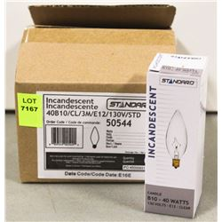 CASE OF 6 STANDARD INCANDESCENT 40 WATT BULBS