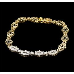 1.00 ctw Diamond Bracelet - 14KT Yellow Gold