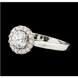 0.86 ctw Diamond Ring - 14KT White Gold
