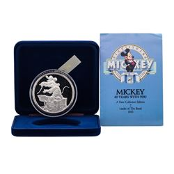 1988 Rarities Mint Walt Disney Mickey 60 Years With You 5 oz .999 Silver Coin w/