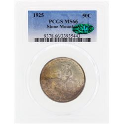 1925 Stone Mountain Commemorative Half Dollar Coin PCGS MS66 CAC