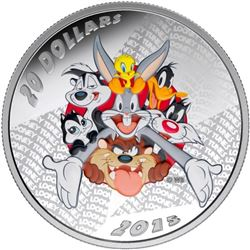 2015 $20 Looney TunesTM: Merrie Melodies - Pure Si
