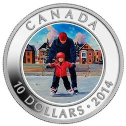 2014 $10 Learning to Skate - Pure Silver Coin.