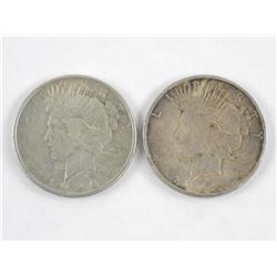 Lot (2) USA Silver Dollar Coins