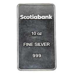 Scotiabank .999 Fine Silver Bar 10oz Bar (SGE)