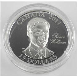 2011 $15 Prince William - Ultra High Relief Sterli