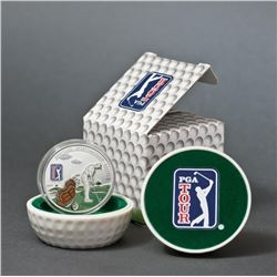 2013 $5 PGA Tour: Tee - Sterling Silver Coin.