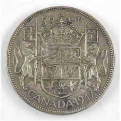 1947 Maple Leaf Canada 50 Cents