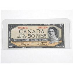 Bank of Canada 1954 - Fifty Dollar Note. Devil's F