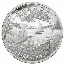 2013 $3 Cottage Life - Pure Silver Coin - Issue: $