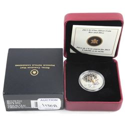2013 .9999 Fine Silver $3.00 Coin 'Bee and Hive' L