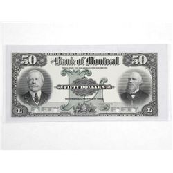 1912 Bank of Montreal Fifty Dollar. 505-52-08P (CX