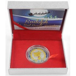 Rudolph Reindeer Coin 5.00 Sterling Silver (SXR)