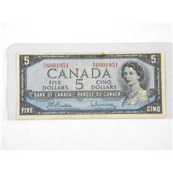 Bank of Canada 1954 - Modified Portrait Five Dolla