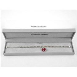 MM Designer Ruby Red Swarovski Element Bracelet.