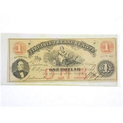 Virginia Treasury Note Estate - One Dollar