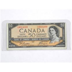 Bank of Canada 1954 - Fifty Dollar Note. Modified