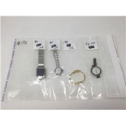 Evidence Bag Assorted Watches 4-Pack