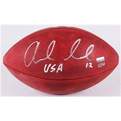 """Andrew Luck Signed LE """"Salute to Service"""" Official NFL Game Ball Inscribed """"USA"""" (Panini COA)"""