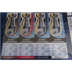 COLLECTIBLE MINT STANLEY CUP OILER TICKETS