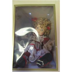NEW PORCELAIN DOLL IN GIFT BOX