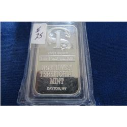 1 TROY OUNCE SILVER BAR