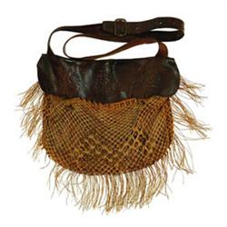 LEATHER AND NETTING GAME BAG