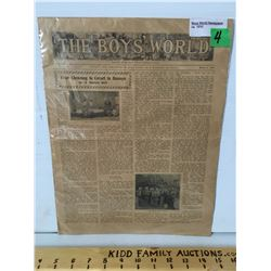 THE BOYS' WORLD NEWSPAPER, MARCH 5 1910