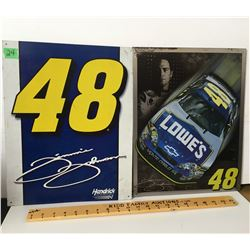 GR OF 2, NASCAR DRIVER JIMMIE JOHNSON #48 SST SIGNS - REPRO