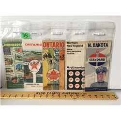 GR OF 5, CITIES SERVICE, TEXACO, SUPERTEST, MOBIL, STANDARD - CANADA / US MAPS