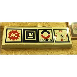 GM, AC DELCO, BATTERY CLOCK - WORKING