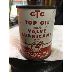 CANADIAN TIRE CORP, TOP OIL & VALVE LUBRICANT CAN, 4 OZ