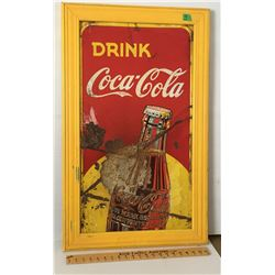 COCA-COLA TIN SIGN, 17  X 32