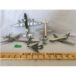 GR OF 7, DINKY TOYS,  CAST AIRPLANES / HELICOPTERS