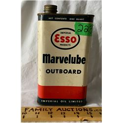 ESSO MARVELUBE OUTBOARD, 1 QT, FULL