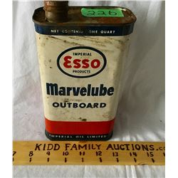 ESSO MARVELUBE OUTBOARD OIL 1 QT, EMPTY