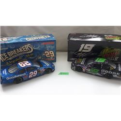 GR OF 2 NASCAR 1:24 SCALE DIECAST, KEVIN HARVICK, JEREMY MAYFIELD CARS, NEW IN BOX