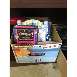 Kids box of books and toys