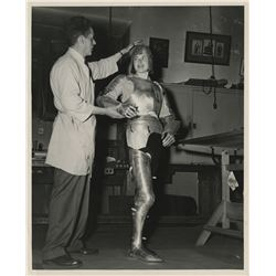Ingrid Bergman (10) special behind-the-scene portrait series in plate armor for Joan of Arc.