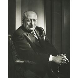 Louis B. Mayer oversize portrait photograph by Yousef Karsh.