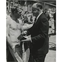 Photojournalist Henry Gris (14) photographs on location with celebrities including Steve McQueen.