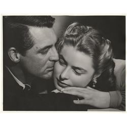Cary Grant and Ingrid Bergman oversize special portrait photo for Notorious by Ernest A. Bachrach.