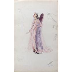 """Hedy Lamarr """"Lily Dalbray"""" costume design by Edith Head from My Favorite Spy."""