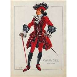 John L. Jensen collection of (20+) costume sketches from various films and television productions.